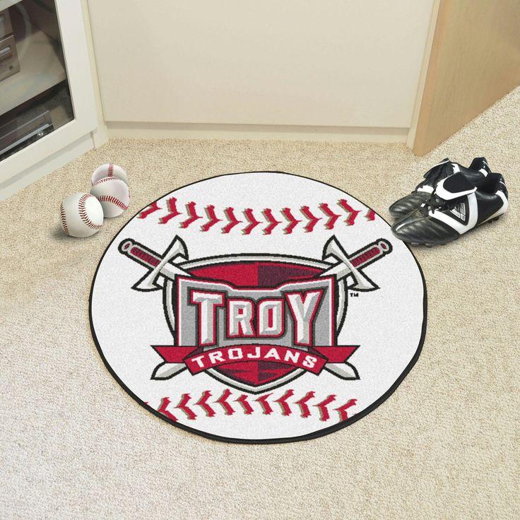 Troy University Baseball Mat 27 diameter