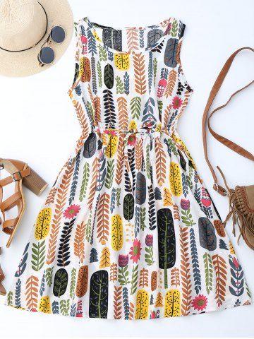 GET $50 NOW | Join RoseGal: Get YOUR $50 NOW!http://www.rosegal.com/print-dresses/drawstring-leaf-print-a-line-1196030.html?seid=9320315rg1196030