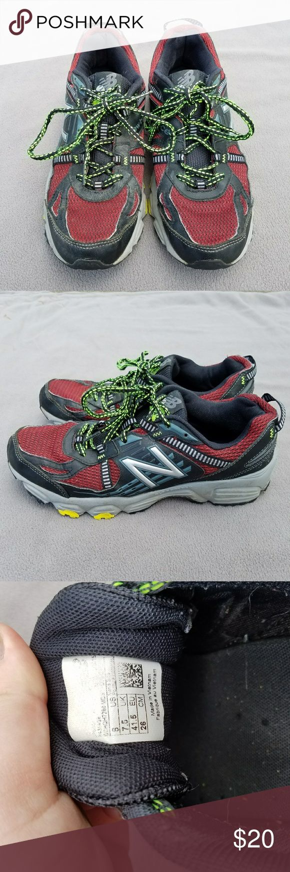 Men's red and black New Balance Gently used condition. Worn about 6 months to school. New Balance Shoes Sneakers
