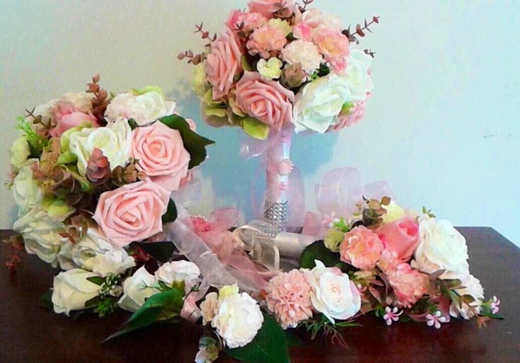 Excited to share the latest addition to my #etsy shop: Dusty pink rose wedding bouquet set