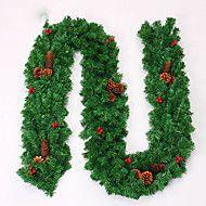 la decoración de navidad corona de agujas de pino de navidad para los 27 cm de diámetro fiesta en casa navidades Fuentes de Año Nuevo – EUR € 25.19