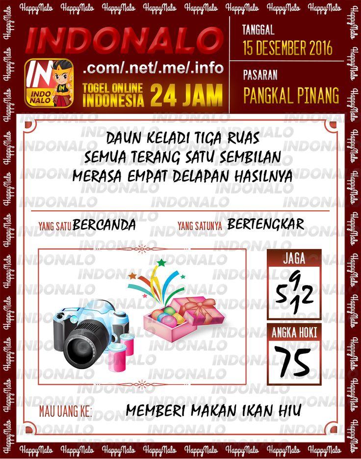 Tafsir Lotre 2D Togel Wap Online Live Draw 4D Indonalo Pangkal Pinang 15 Desember 2016