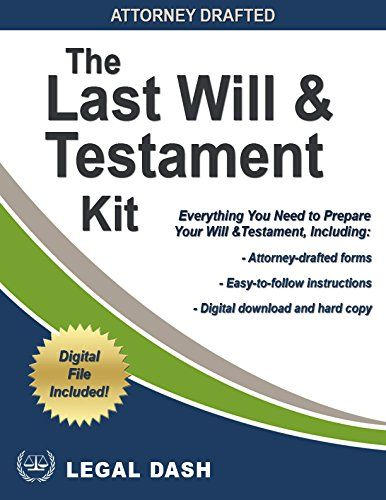 Legal Dash Last Will and Testament Forms with Instructions – Do-It-Yourself - Includes Digital Downloads  Don't leave someone else do decide who gets your property and assets when you're gone.  This Do-It-Yourself Last Will and Testament kit includes a copy of the necessary forms and instructions, as well as digital downloads of the forms and instruction in Microsoft Word, PDF, and a fillable PDF form.