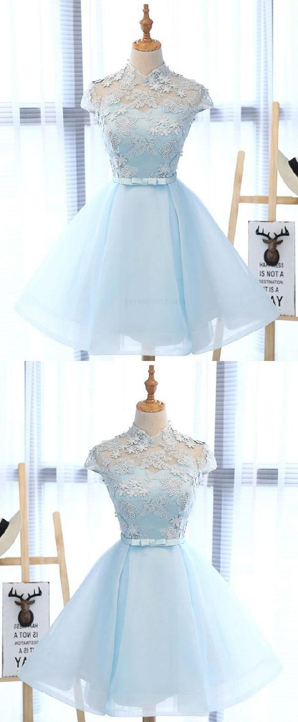 Outlet comfortable lace prom dresses prom dresses blue cute prom