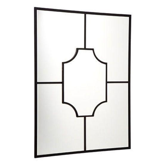 Boyd Wall Mirror - Black - 71cm L x 2cm W x 99cm H - Cafe Lighting