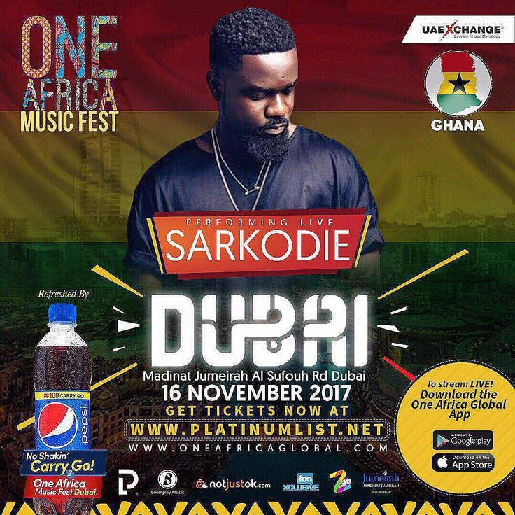 Sarkodie Abandons One Africa Music Fest Over Davido Preference