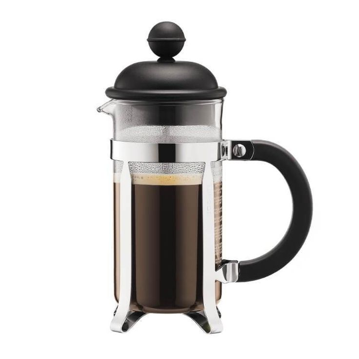 The Bodum Caffettiera French Press Coffee Maker incorporates classic style and delicious aromatic coffee. It's the pure and simple way of making coffee which is why coffee tasters use this method to determine the quality of coffee beans.