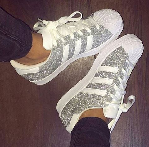 sparkly adidas superstars