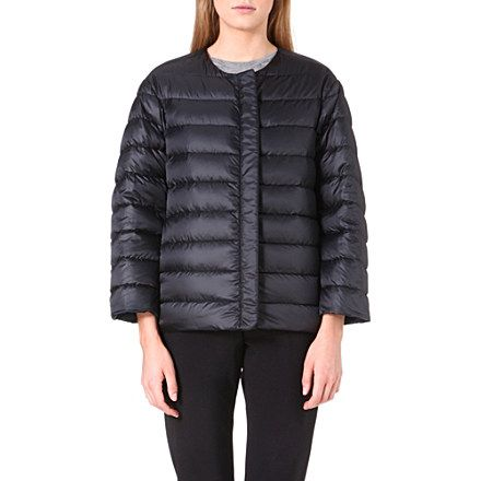 JIL SANDER Reversible quilted jacket (Navy