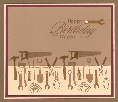 Stamp-it Australia: 4315E Tools, siset031 Happy Birthday to You - Card by Lexie