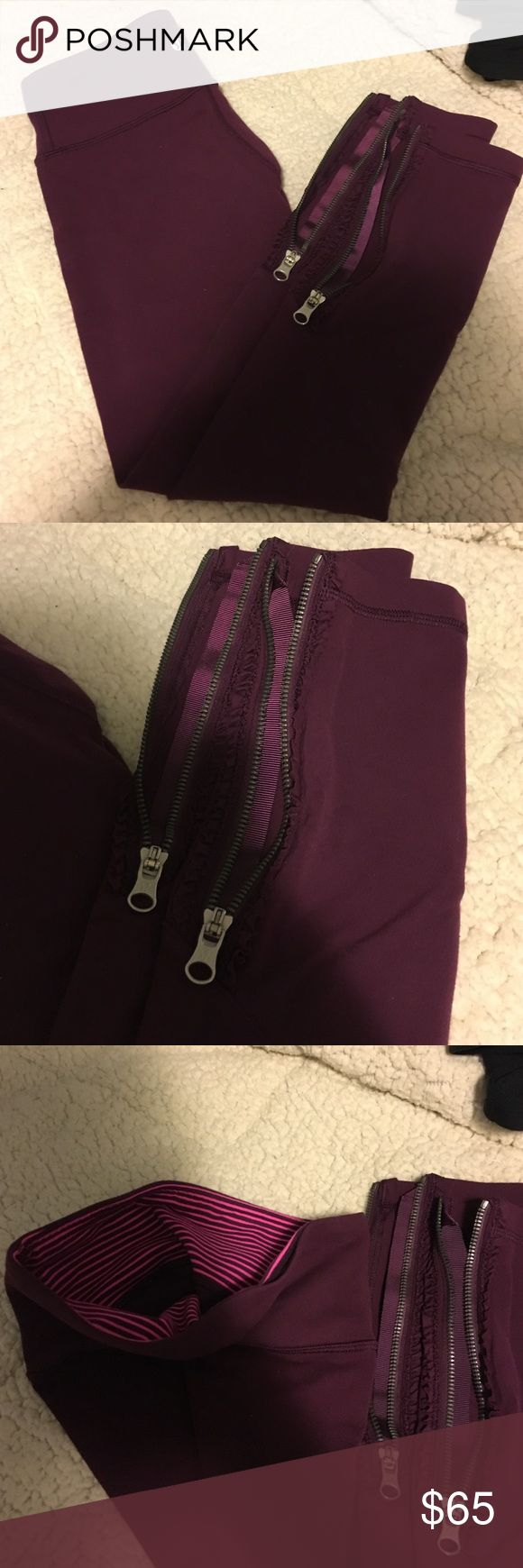 Lulu lemon leggings Maroon great condition lulu lemon leggings lululemon athletica Pants Leggings