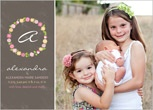 Birth announcement with siblings