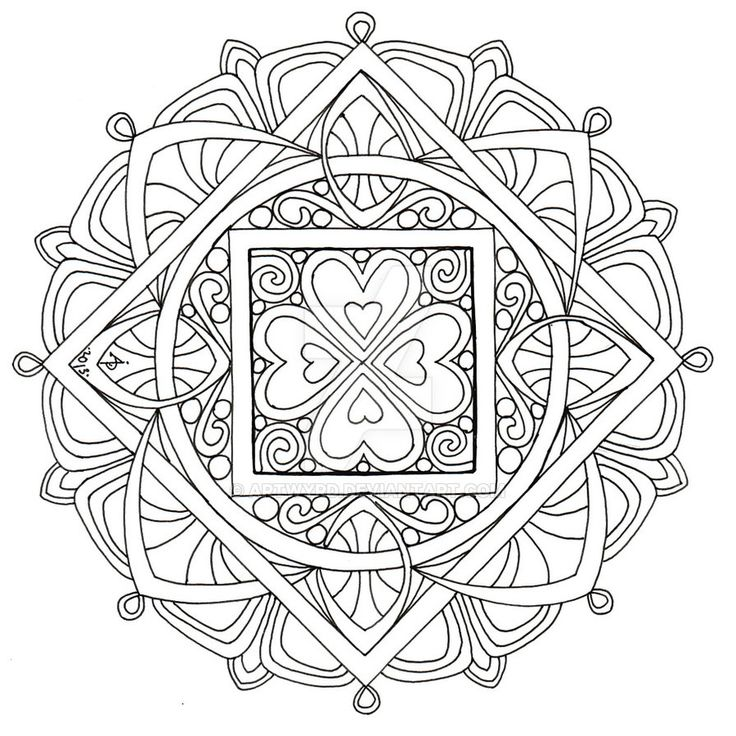 mandala 2 july 2013 by artwyrd on deviantart