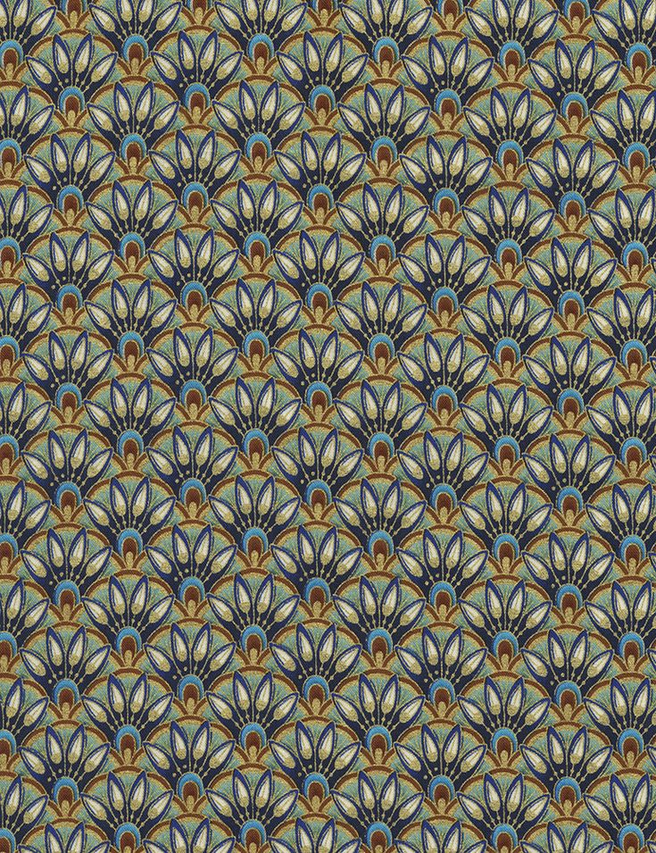 Alexandria by Chong-a Hwang for Timeless Treasures Fabrics Alex-CM4597-Multi Egyptian Scallop