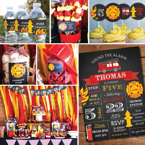 Fireman Birthday Party Printables  Firefighter by SunshineParties