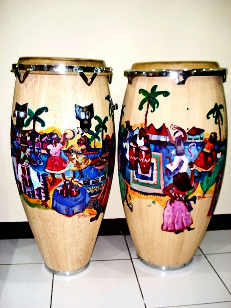 Yucca Rose Art - Painted Congas
