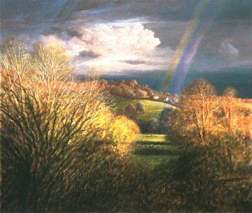 Rainbow end from Creech Hill by James Lynch