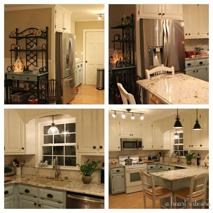 Best Paint For New Kitchen Cabinets: Cabinet Paint: Top, Behr Swiss Coffee Bottom, Benjamin