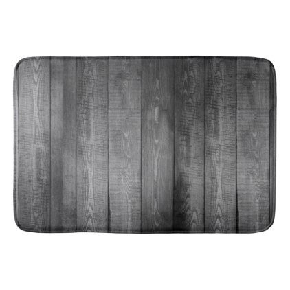 Rustic Gray Wood Planks Bath Mat - rustic gifts ideas customize personalize