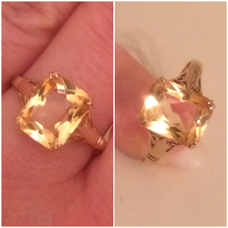 Vintage citrine and gold ring keep the sun shining on you everyday, SOLD by Vintage Pretty Things