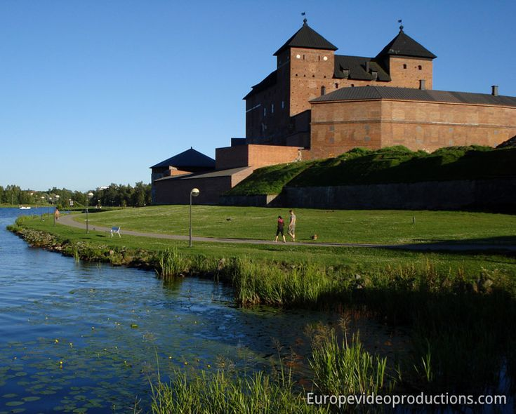 Medieval Häme Castle in Hämeenlinna in South-Finland