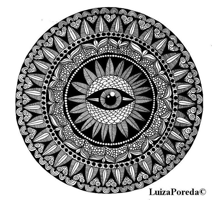 Eye mandala by Luiza Poreda
