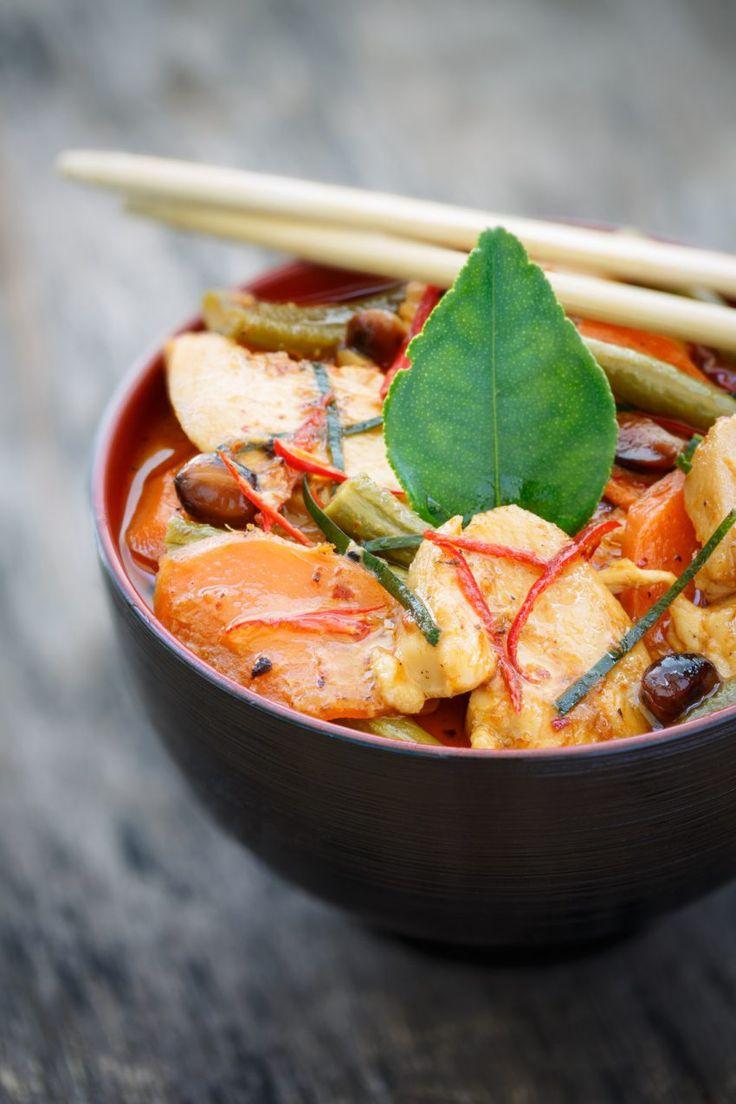Panang curry z kurczakiem