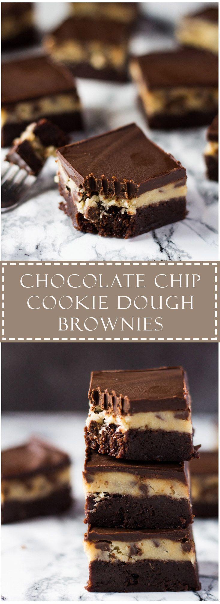 Chocolate Chip Cookie Dough Brownies   Marsha's Baking Addiction