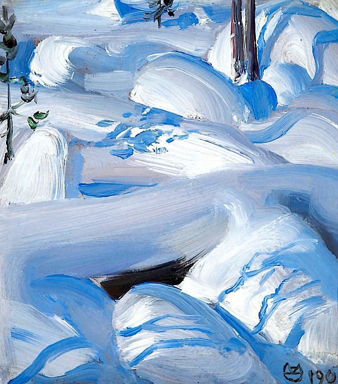 Snow-covered rocks Akseli Gallen-Kallela - 1900