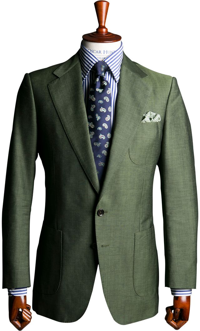 Green mohair suit
