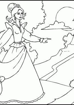 Раскраска Принцесса возвращается в замок, скачать и ...