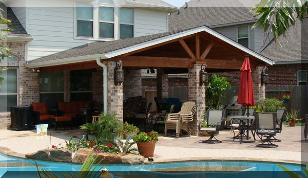 17 Best images about Patio covers on Pinterest | Outdoor ... on Covered Pool Patio Ideas id=89110
