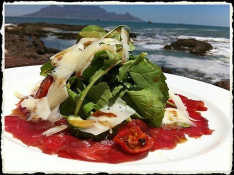 Our suggestion for lunch today, our amazing Venison Carpaccio! Absolutely delicious and certainly a 'must try' http://ontherocks.co.za/