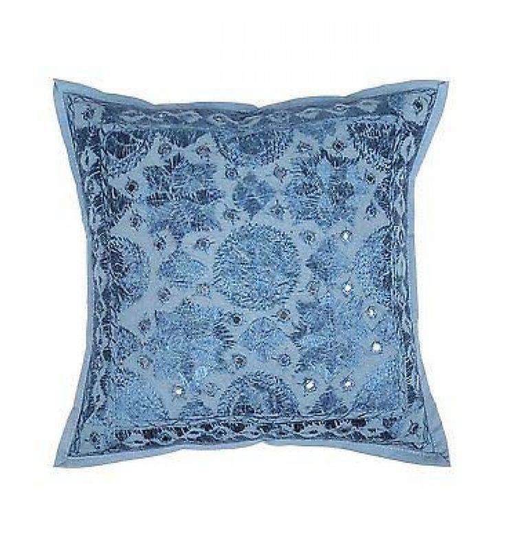 Boho chic indian mirror handmade pillow case