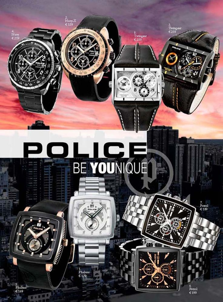 A new collection Police #beautiful #very-good #montre_homme #watches_man #design #urban #On_Time_perfomer