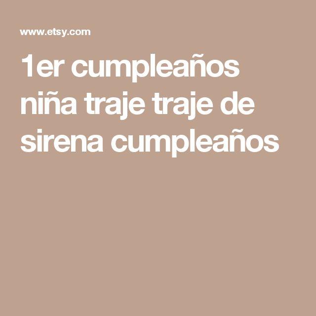1er cumpleaños niña traje traje de sirena cumpleaños