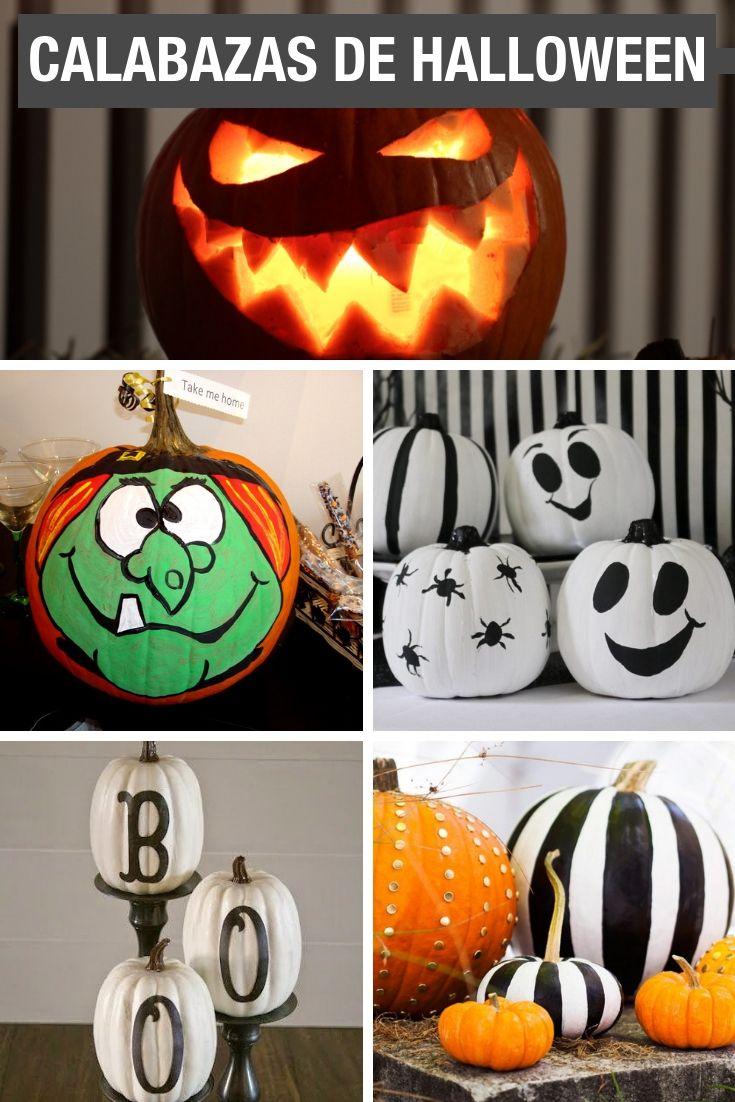14 Ideas Para Hacer Calabazas De Halloween Calabazas De