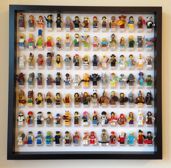 The final solution to your #Lego #minifigures.  Show them in an organized way and keep them safe and dust free.  It can hold 105 Lego #legominifigures