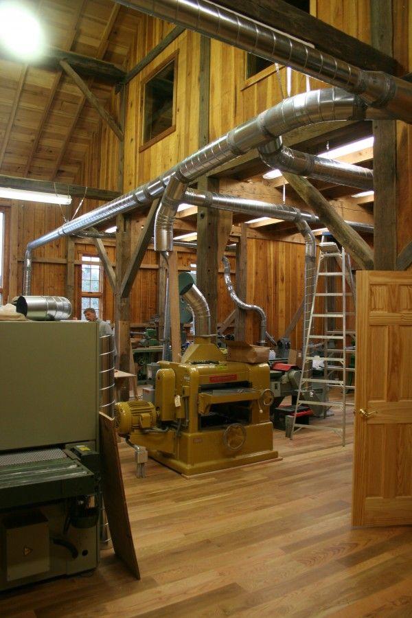 1860 Bank Barn Conversion to Woodworking Studio  Shop