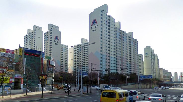 Housing - #architecture #googlestreetview #googlemaps #googlestreet #southkorea #busan #brutalism #modernism