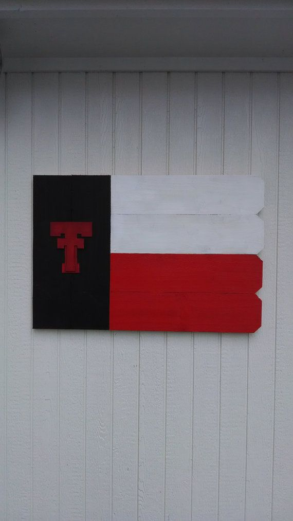 Texas Tech Outdoor Wooden Sign by ARepurposedPurpose on Etsy