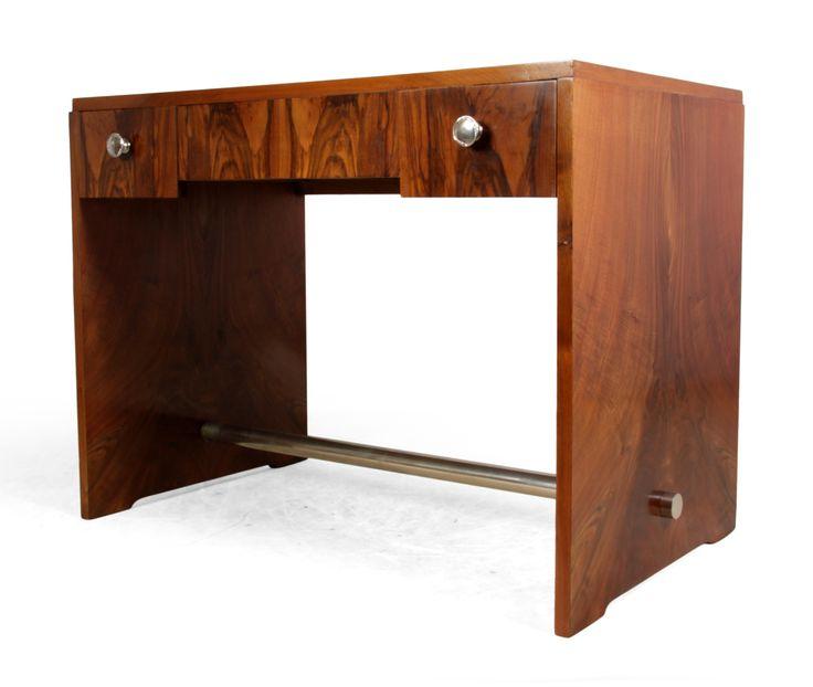 Art Deco French Walnut Desk 1930s