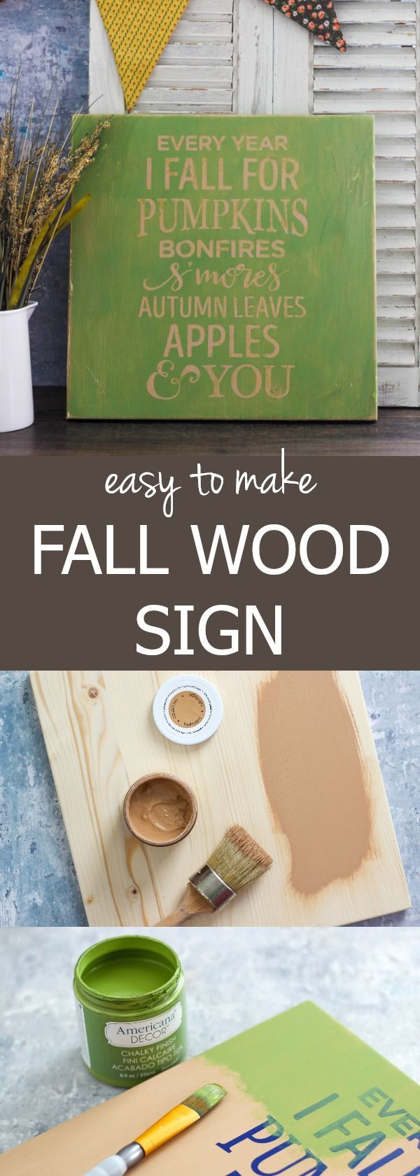 Welcome autumn with this Easy To Make Fall Wood Sign that adds a farmhouse style to your home decor.