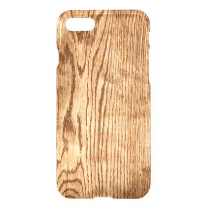 Cool Rustic Country Faux Wood Texture Uncommon iPhone 8/7 Case - trendy gifts cool gift ideas customize
