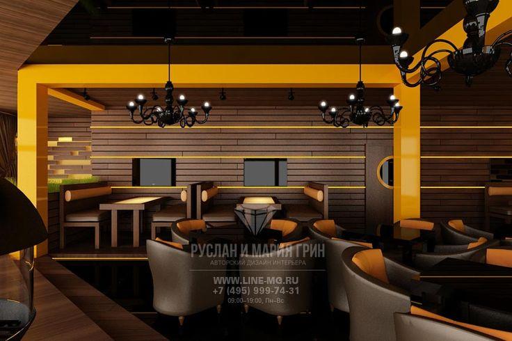 Интерьер ресторана  http://www.line-mg.ru/portfolio/dizayn-restorana-v-kurkino