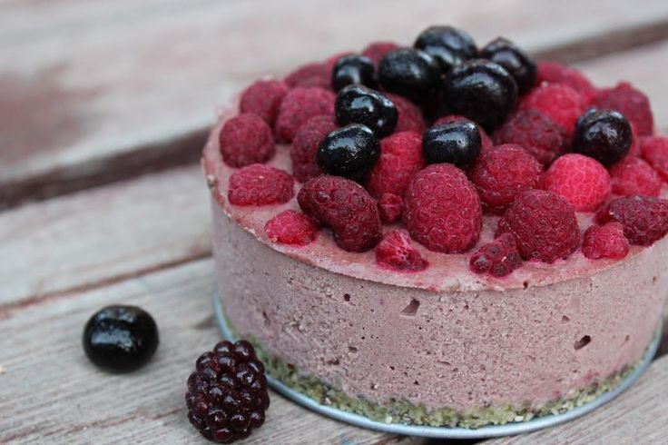 Berry Cheesecake from the eBook Radiantly Raw www.radiantlyrawlifestyles.com