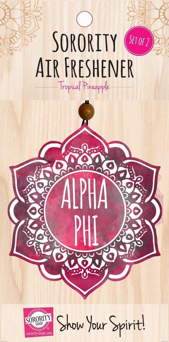 Alpha Phi Sorority Mandala Air Freshener - Brothers and Sisters' Greek Store