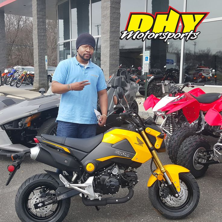 Congratulations to Steven from #Levittown #PA on his purchase of this 2015 #Honda #Grom #125 Enjoy all of the fun! Thank you for making your purchase at #DHYMotorsports #mynewride #dhynj