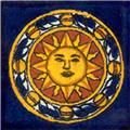 Mexican Tile Sol Azteca