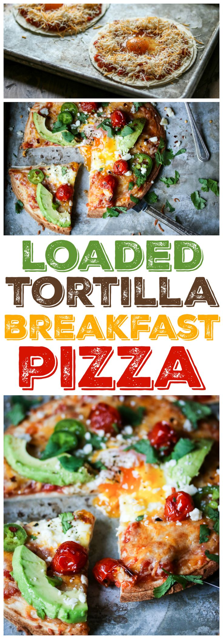 Tortillas, salsa, cheese, and eggs are all you need to make these easy Tortilla Breakfast Pizzas. Load them up with your favorite toppings and dig in!